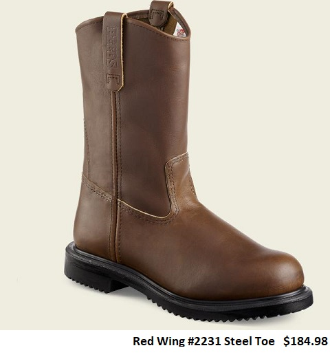 toe we feature red wing and worx a division of red wing the following
